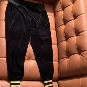 Nicki Minaj velour sweat pants